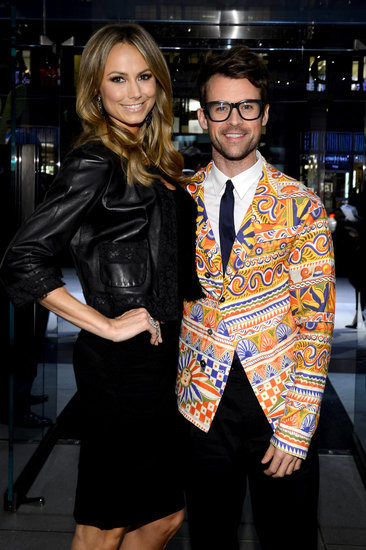 Stacy Keibler met up with stylist Brad Goreski at a Dolce & Gabbana store opening in NYC.