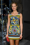 Model Erin Heatherton attended the Dolce & Gabbana store opening on Fifth Avenue in NYC.