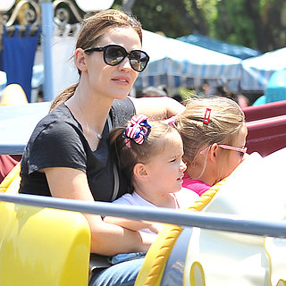 Jennifer Garner With Violet and Seraphina at Disneyland