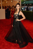 Nina Dobrev struck a pose at the Met Gala.
