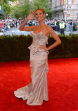 Heidi Klum at the Met Gala 2013.