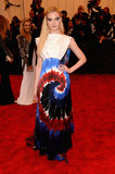 Elle Fanning took the tie-dyed route in Rodarte.