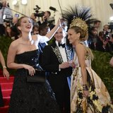 Sarah Jessica Parker and Jennifer Lawrence at the Met Gala 2013.