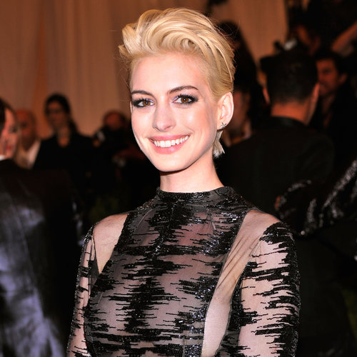 Anne Hathaway With Blonde Hair at the 2013 Met Gala