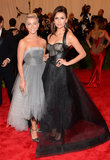 Nina Dobrev and Julianne Hough at the Met Gala 2013.