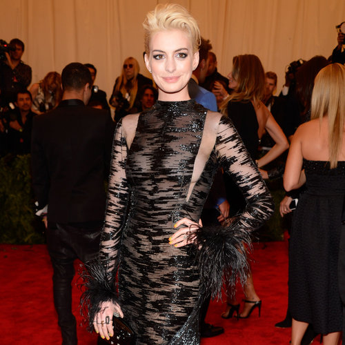 Blond Anne Hathaway at the Met Gala 2013