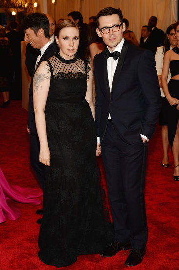 Lena Dunham at the Met Gala 2013.