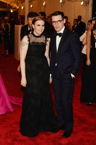 Lena Dunham and Erdem Moralioglu at the Met Gala 2013.