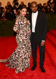 Kim Kardashian and Kanye West at the Met Gala 2013.