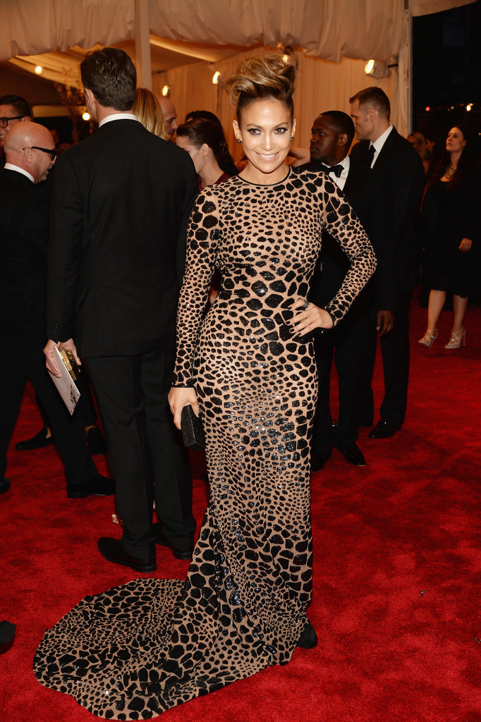 Jennifer Lopez at the Met Gala 2013.
