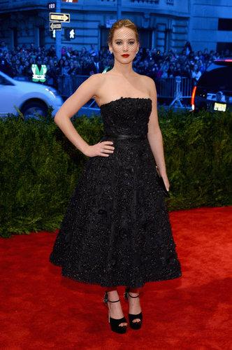 Jennifer Lawrence at the Met Gala 2013.