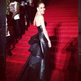 Punk princess Doutzen Kroes made her way up the Met Gala staircase. Source: Instagram user doutzenkroes1