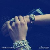 Jessica Biel showed off her Leighton jewels on the way to the Met.  Source: Instagram user jessicabiel