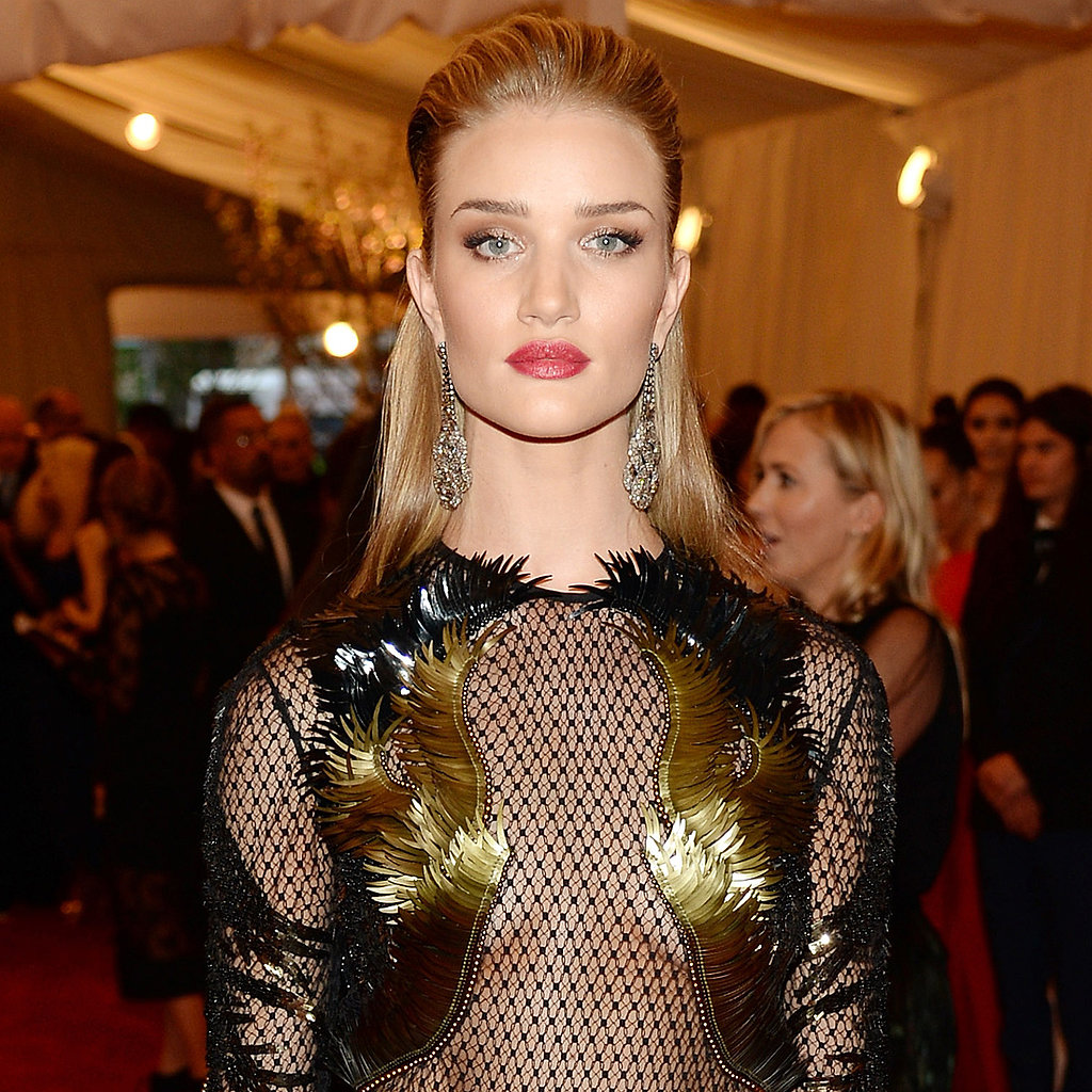 Rosie Huntington-Whiteley on Met Gala 2013 Red Carpet