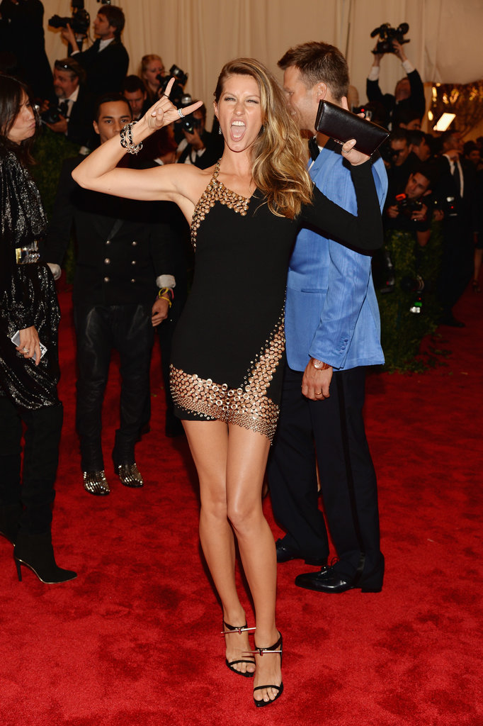 Gisele Bündchen wore Anthony Vaccarello.