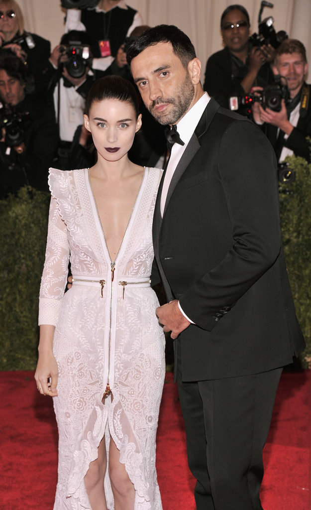 Rooney Mara met up with designer Riccardo Tisci.