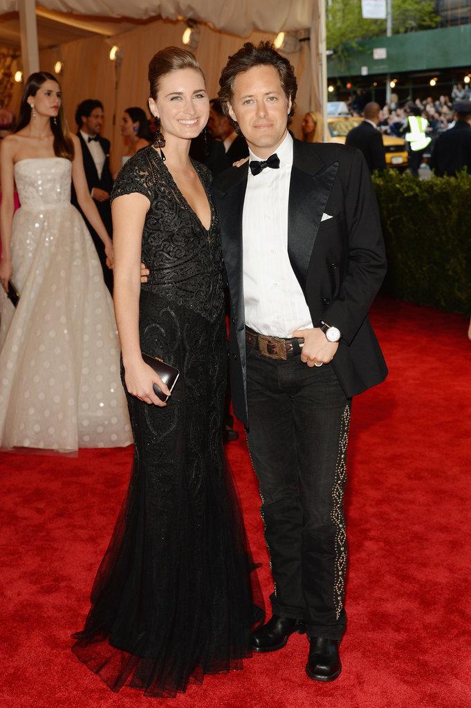 David Lauren posed with his wife, Lauren Bush Lauren.