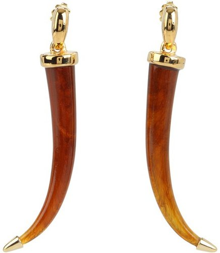 Vince Camuto - Cote D'Iviore Resin Horn Drop Earring