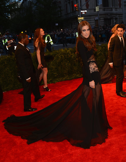 Allison Williams at the Met Gala 2013.
