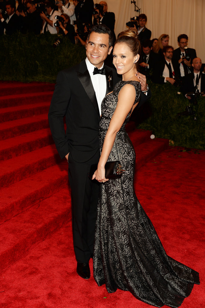 Jessica Alba cozied up to her husband, Cash Warren.