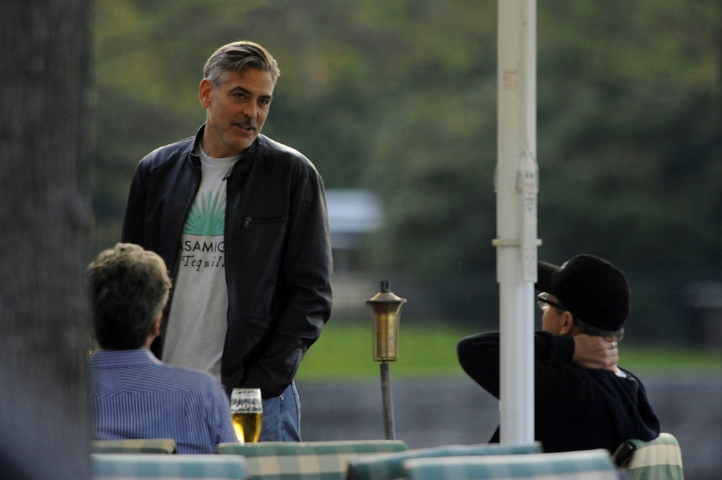 George Clooney shared a beer with Matt Damon ahead of his birthday.