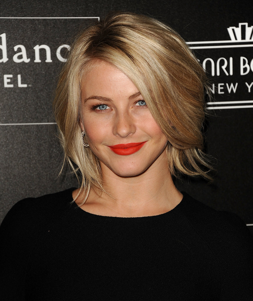 A voluminous blowout and lots of layers comprised Julianne's look at a celebration for Elle and the Sundance Channel.