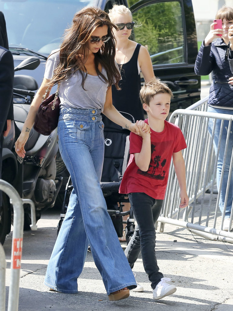 Victoria Beckham and son Cruz visited the Eiffel Tower and dined at a fancy restaurant with the rest of their clan.