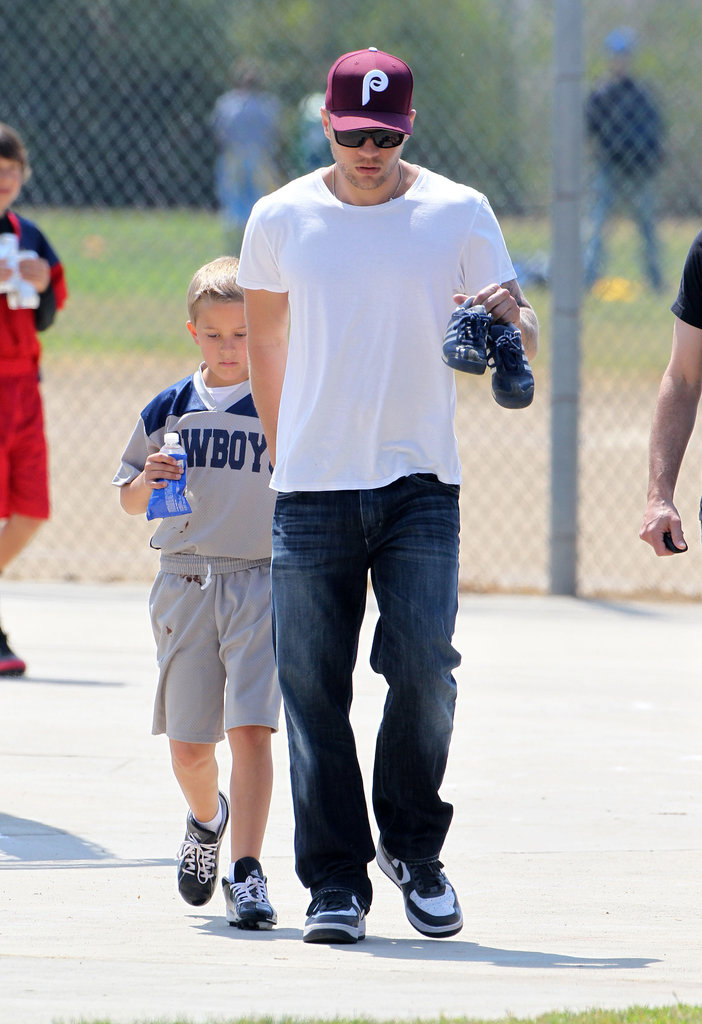Ryan Phillippe rooted on son Deacon during a flag football game in LA.