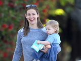 Jennifer Garner brought Samuel Affleck on an errand run in LA on Friday.