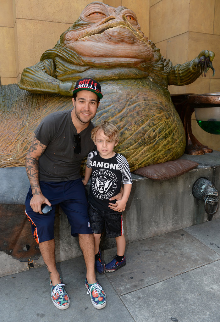 Pete Wentz brought son Bronx to an LA screening of Star Wars Episode VI: Return of the Jedi.