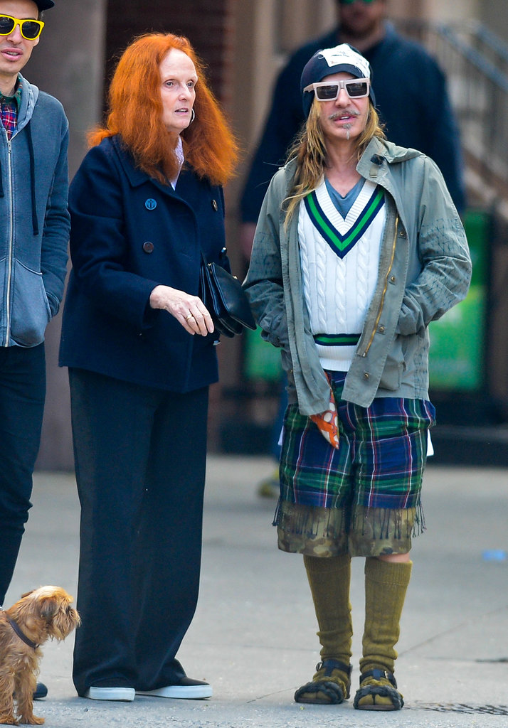 Grace Coddington and John Galliano took to the streets of New York City.