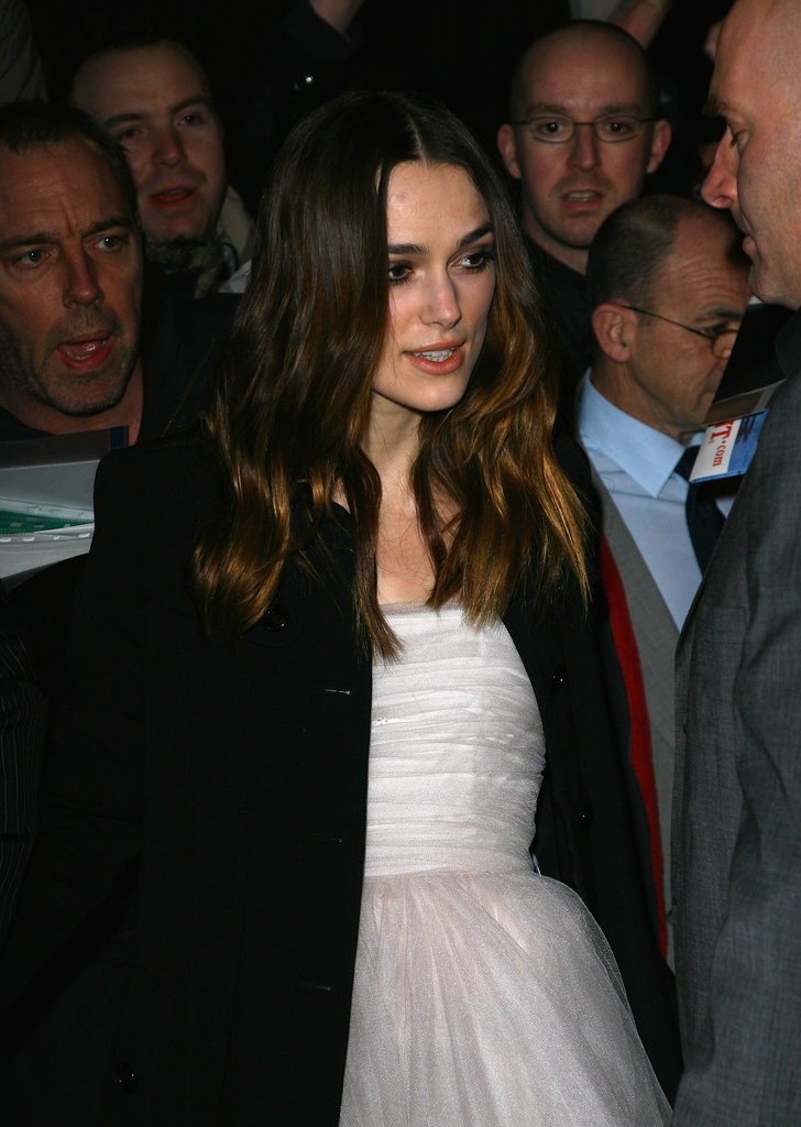 Her wedding dress closely resembled a light-pink tulle Rodarte dress she wore in 2008 to a pre-BAFTA party — and for that occasion, she styled the look with black tights and black pumps. Perhaps her wedding day look was inspired by that pretty ballerina-inspired ensemble all those years ago.