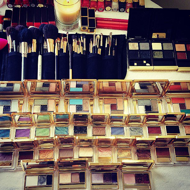 The makeup artists over at Estée Lauder were so excited to bust our their punk rock colors for the Met Gala. Source: Instagram user esteelauder