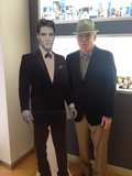 Steve Martin could barely contain his glee upon finding a long-lost idol. Source: Twitter user SteveMartinToGo