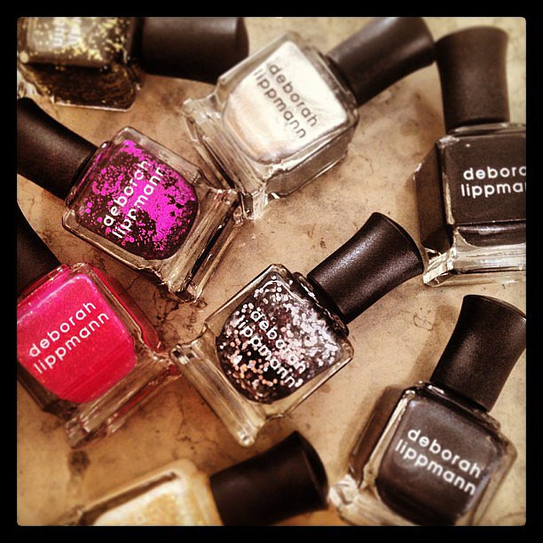 Black lacquers, lots of sparkles, and red-hot hues are perfect for a punk rock night at the Met Gala. Source: Instagram user deborahlippmann
