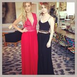 Emma Roberts and Teresa Palmer posed together before heading to the red carpet. Source: Instagram user emmarobertst6