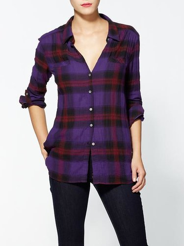 C&C California Roll Sleeve Pocket Plaid Shirt
