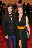 Kelly Osbourne and Matthew Mosshart at the Met Gala 2013.