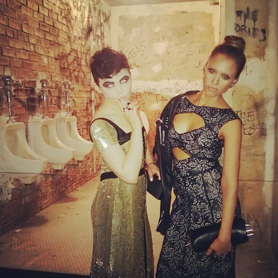 Tory Burch's dates, Ginnifer Goodwin and Jessica Alba, had some punk-chic girls time at the exhibit. Source: Instagram user jessicaalba