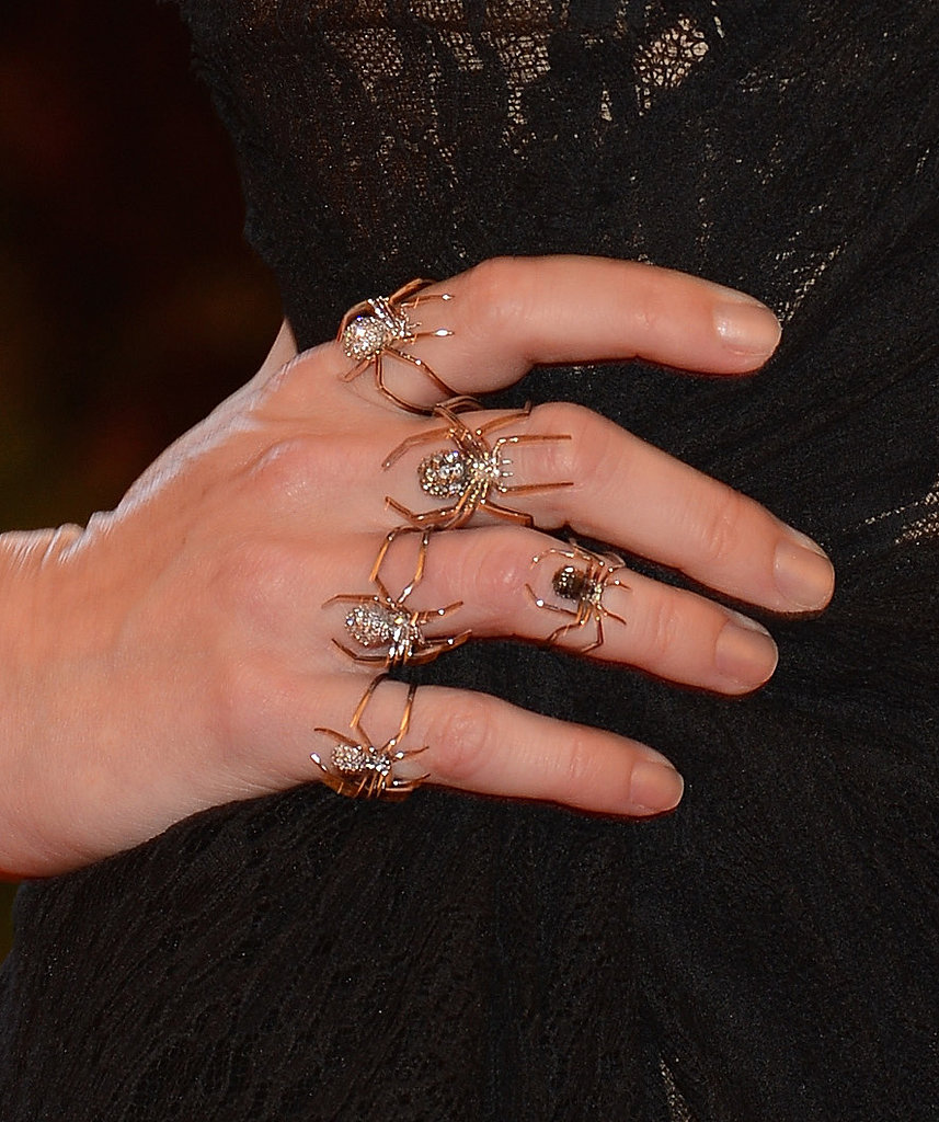 Jennifer Morrison wore spidery J.Herwitt custom jewels.
