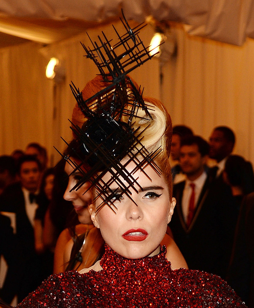 Paloma Faith wore a funky Philip Treacy headpiece.