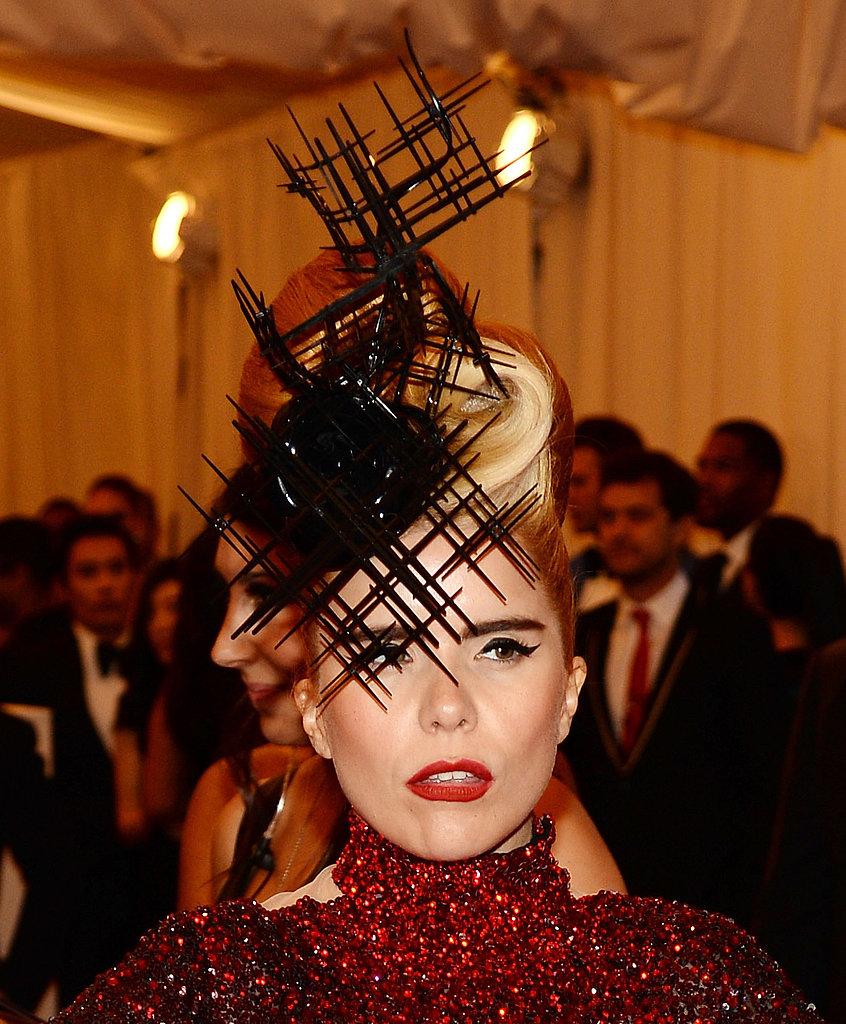 Paloma Faith wore a funky Philip Treacy headpiece.