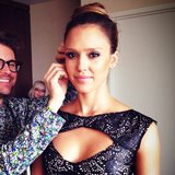 Jessica Alba got ready with stylist Brad Goreski and makeup artist Lauren Andersen. Source: Instagram user lauren_andersen