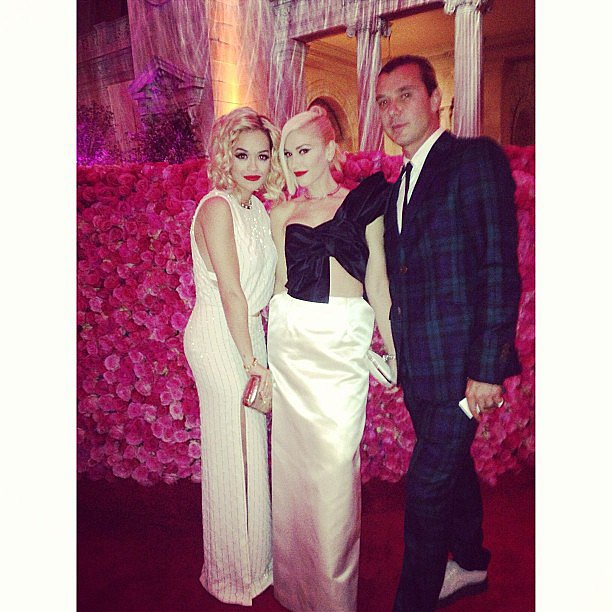 Rita Ora chatted with Gwen Stefani and Gavin Rossdale while checking out the Met Gala exhibit. Source: Instagram user ritaora