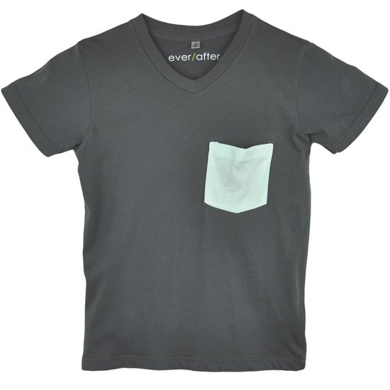 Pima V-Neck Contrast Pocket Tee ($32)