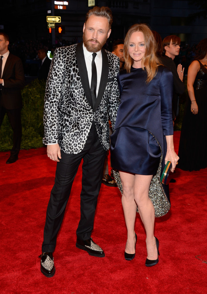 Stella McCartney wore one of her own designs alonside her hubby for the evening.