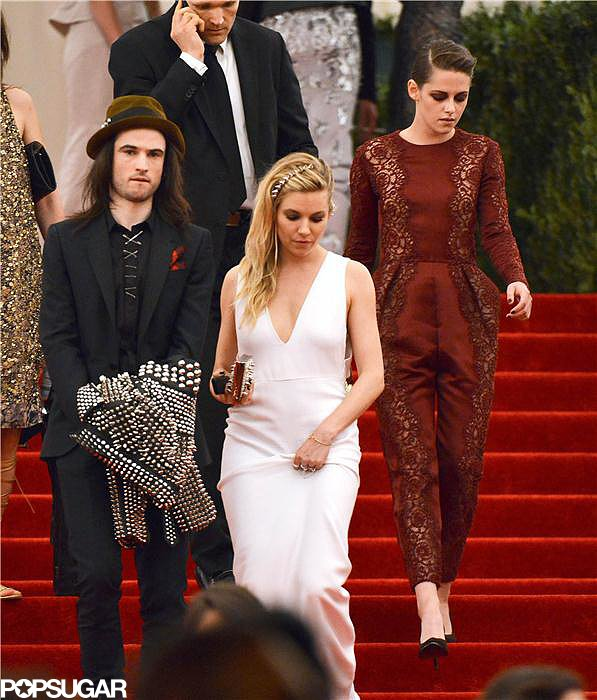 Kristen Stewart, Sienna Miller, and Tom Sturridge left the Met Gala together.