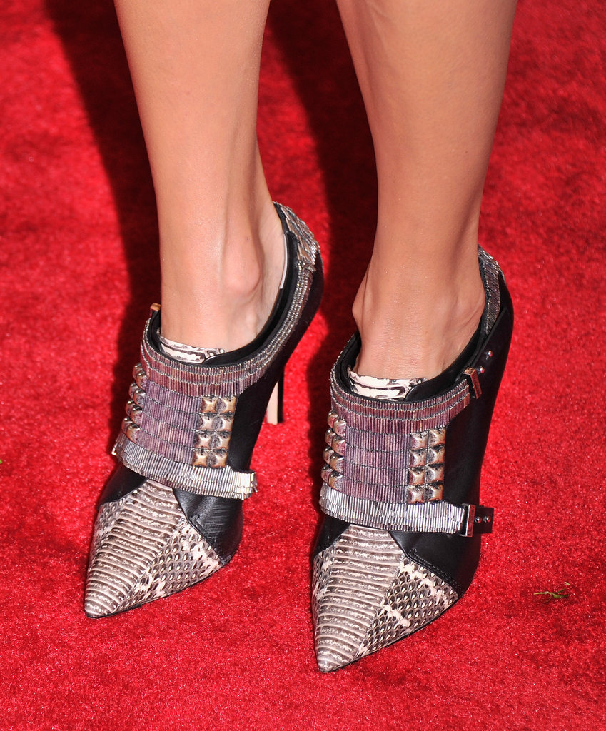 Stacy Keibler furthered the punk feel with studded booties.