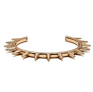 Add a little spunk (and punk) to your wrist via this Miss KL gold spiked bracelet ($12).