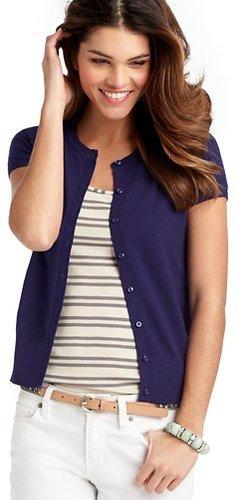 Short Sleeve Cotton Cardigan